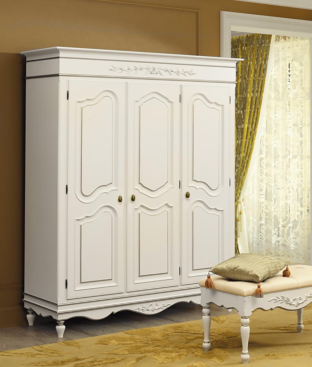 Ln15 шкаф трехстворчатый белый снежный прованс / шкафы / кла.